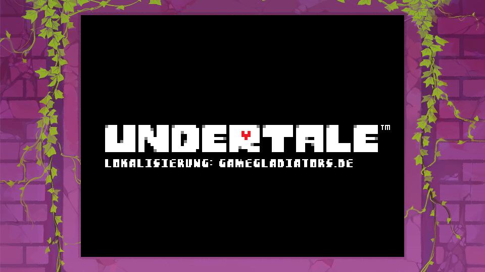 Deutscher Undertale Titelbildschirm